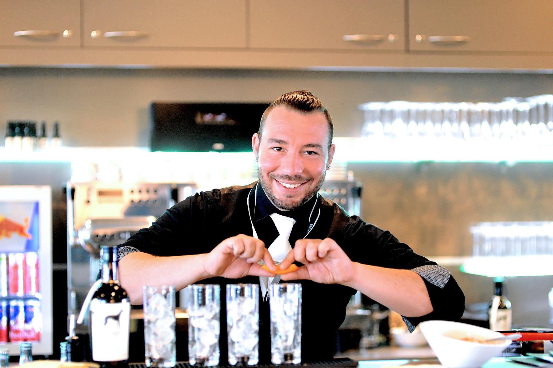 Mario Santoro, Markenbotschafter für Windspiel Gin und Inhaber Second Row Bar, Göppingen